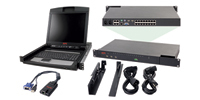 "APC 2x1x16 IP KVM w/ 17"" Rack LCD & USB VM Server Module Bundle"