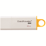 Kingston Technology DataTraveler G4 8GB USB flash drive 3.0 (3.1 Gen 1) USB Type-A connector White,Yellow