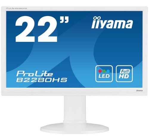 "iiyama ProLite B2280HS-W1 21.5"" Full HD LED Matt Flat White computer monitor"