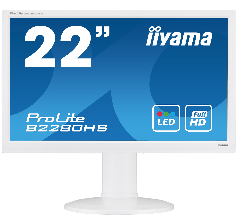 Desktop Monitor - ProLite B2280HS-W1 - 21.5in - 1920x1080 (FHD) - White