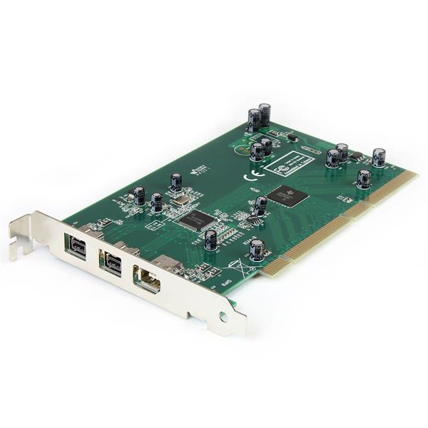 StarTech.com Adaptador Tarjeta Controladora FireWire 800/400 PCI 2 Puertos 1394b 1x 1394a - Kit Edición DV