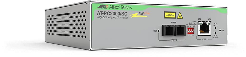 Allied Telesis AT-PC2000/SC-60 network media converter 1000 Mbit/s 850 nm Grey