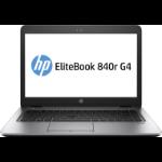 "HP EliteBook 840r G4 DDR4-SDRAM Notebook 35.6 cm (14"") 1366 x 768 pixels 7th gen Intel® Core™ i5 4 GB 128 GB SSD Wi-Fi 5 (802.11ac) Windows 10 Pro Silver"