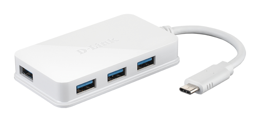D-Link USB-C to 4-Port USB 3.0 Hub– DUB-H140