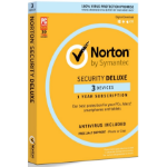 SYMANTEC Security Deluxe 3.0 Au 1 User 3 Device 12Mo Retail