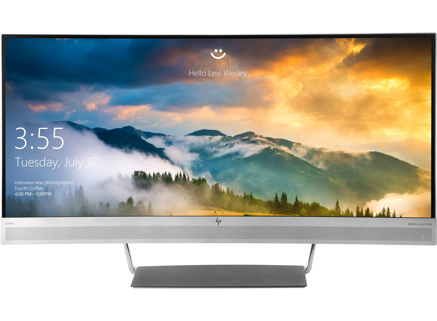 "HP EliteDisplay S340c LED display 86,4 cm (34"") Ultra-Wide Quad HD Gebogen Zwart, Zilver"