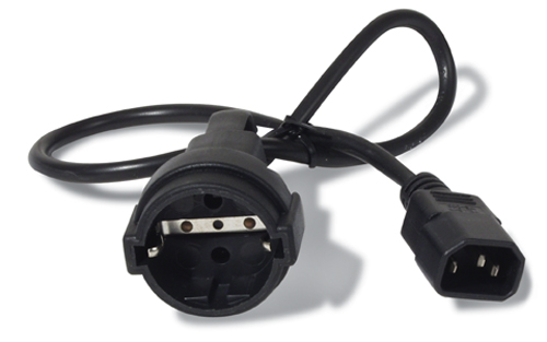 Power Cord Iec 320 C14 To Schuko Cee 7 10a/230v 0.5m