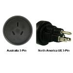 InLine Australia to North America US 3-pin Power Adapter Plug