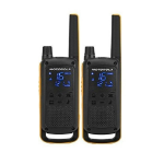 Motorola T82 Extreme Twin Pack two-way radio 16 channels Black,Orange