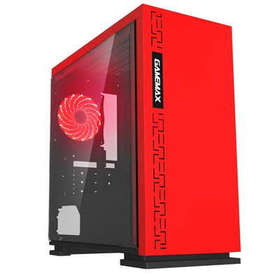GAMEMAX Expedition Red Micro Tower 1 x USB 3.0 / 2 x USB 2.0 Side Window Panel Red Case with Red LED