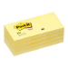Post-It Notes, 1.5 in x 2 in, Canary Yellow, 12 Pads/Pack self-adhesive note paper