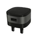 Kit USBMCMETSG mobile device charger Indoor Black, Silver