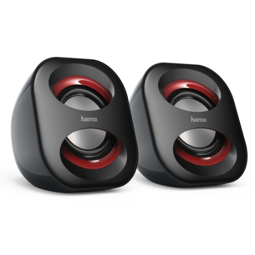 Hama Sonic Mobil 183 loudspeaker 3 W Black,Red Wired