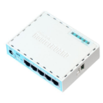 Mikrotik RB750GR3 wired router Gigabit Ethernet Turquoise,White