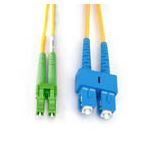 Microconnect FIB841001 fibre optic cable 1 m SC LC Yellow