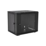 V7 RMWC9UG450-1E rack cabinet 9U Wall mounted rack Black