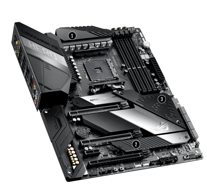 ASUS ROG CROSSHAIR VIII HERO MOTHERBOARD SOCKET AM4 ATX AMD X570