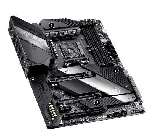 ASUS ROG Crosshair VIII Hero motherboard Socket AM4 ATX AMD X570