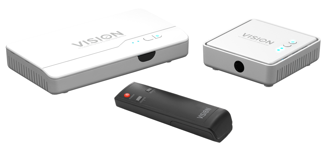 Vision TECHCONNECT WIRELESS HDMI TRANSMITTER AND RECEIVER WITH 20M RANGE WITH INTEGRATED HDMI SWITCHER AND