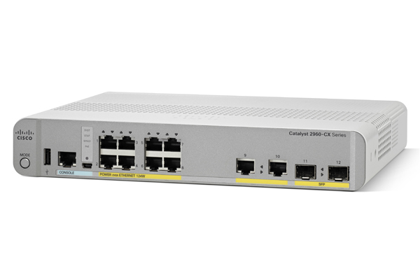 Cisco 2960-CX Unmanaged L2 Gigabit Ethernet (10/100/1000) Power over Ethernet (PoE) White