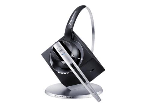 Sennheiser DW Office PHONE Monaural Ear-hook,Head-band Black,Silver headset