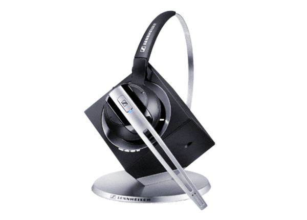 Sennheiser DW Office PHONE Monaural Ear-hook,Head-band Black,Silver headset