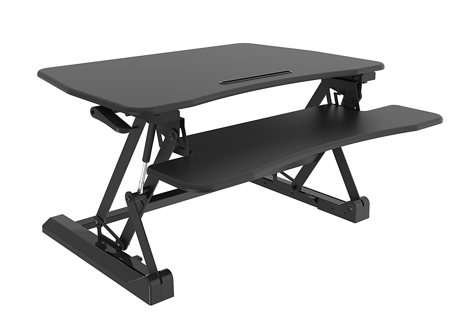 Up & Down Sit/stand Desk W/kb/mouse Deck Blk