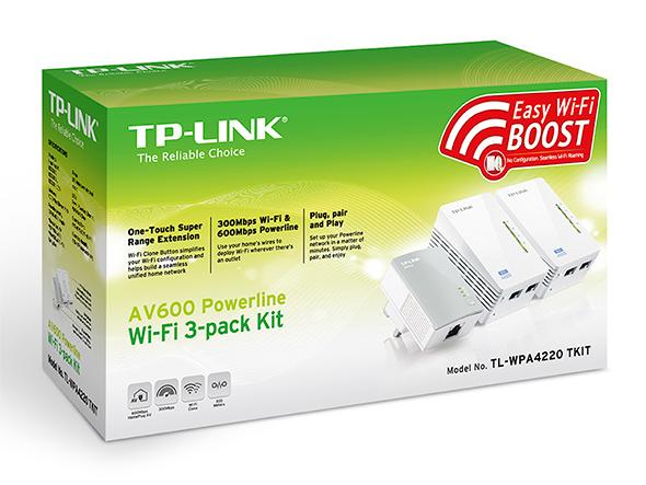 TP-LINK TL-WPA4220T KIT V1.20 600Mbit/s Ethernet LAN Wi-Fi White 3pc(s) PowerLine network adapter
