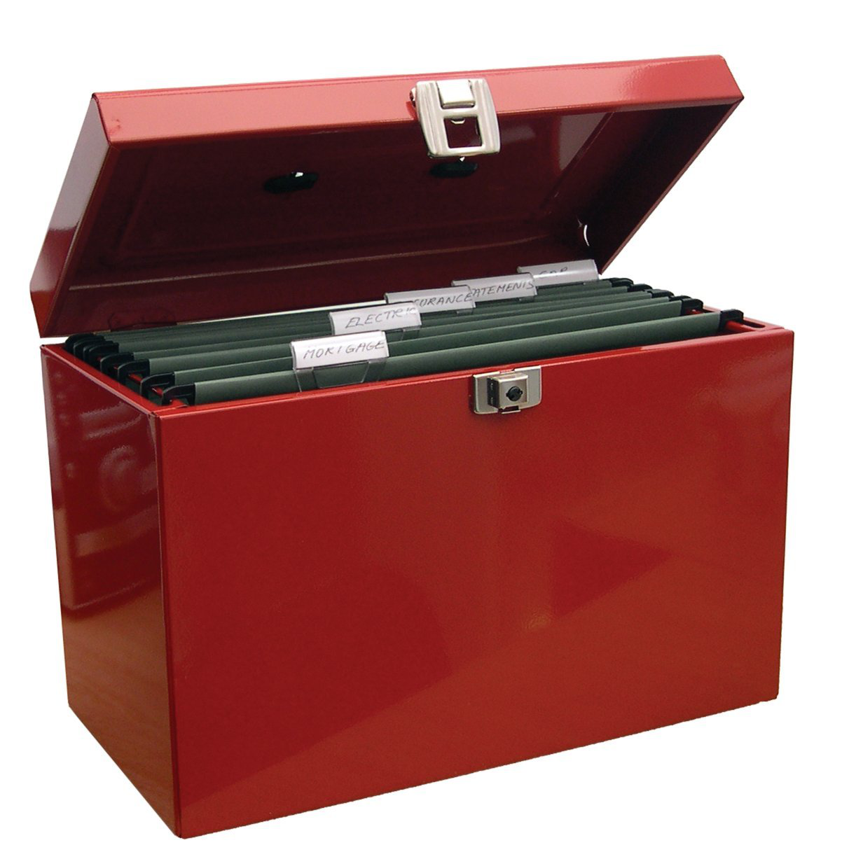 Cathedral Products Value Cathedral Metal File Box A4 Red
