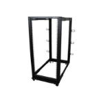 StarTech.com 4POSTRACK25U rack cabinet 25U Freestanding rack Black