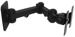 Lindy LCD Multi Joint Wall Bracket Black
