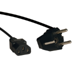 Tripp Lite 2-Prong European Computer Power Cord, 10A (IEC-320-C13 to SCHUKO CEE 7/7), 6-ft.