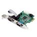 StarTech.com Tarjeta Adaptadora PCI Express PCIe de 2 Puertos Serie RS232 UART 16950 Serial