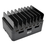 Tripp Lite 7-Port USB Charging Station w/Quick Charge 3.0, USB-C Port, Device Storage, 5V 4A (60W) USB Charge Output