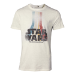 Star Wars The Force Awakens Men's Retro Rainbow Logo T-Shirt, Small, White (TS061675STW-S)