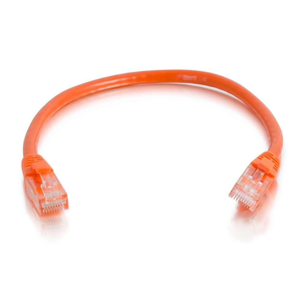C2G Cable de conexión de red de 1 m Cat6 sin blindaje y con funda (UTP), color naranja