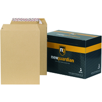 New Guardian Envelopes Heavyweight Pocket Peel and Seal Manilla C4 [Pack 250]