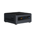 Intel NUC BOXNUC7CJYSAL2 PCs/estación de trabajo Intel® Celeron® J4005 4 GB DDR4-SDRAM 32 GB eMMC UCFF Negro Mini PC Windows 10 Home