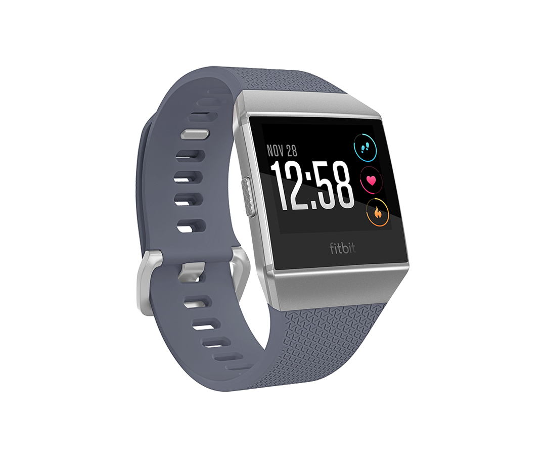 "Fitbit Ionic smartwatch LCD 3.61 cm (1.42"") Gray, Silver GPS (satellite)"