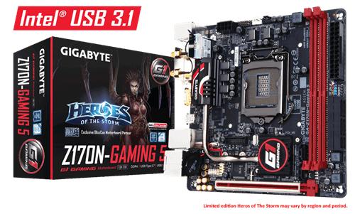 GIGABYTE GA-Z170N-Gaming 5 Intel Socket 1151 Mini-ITX DDR4 DVI-D/HDMI M.2 USB 3.0/3.1 Motherboard