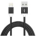 Astrotek 2m USB Lightning Data Sync Charger Black Cable for iPhone 7S 7 Plus 6S 6 Plus 5 5S iPad Air Mini iPo