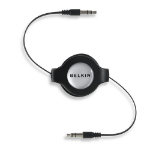 Belkin Retractable Car-Stereo Cable / iPod & iPhone 1.45m 3.5mm 3.5mm Black audio cable