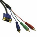 C2G 1m Ultima™ HD15 / RCA HDTV Component Video Breakout Cable