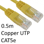 TARGET RJ45 (M) to RJ45 (M) CAT5e 0.5m Yellow OEM Moulded Boot Copper UTP Network Cable