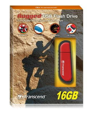 Jetflash V70 Rugged - 16GB USB Stick - USB 2.0 - Red