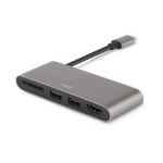 Moshi 99MO084213 interface hub USB 3.0 (3.1 Gen 1) Type-C 5000 Mbit/s Grey