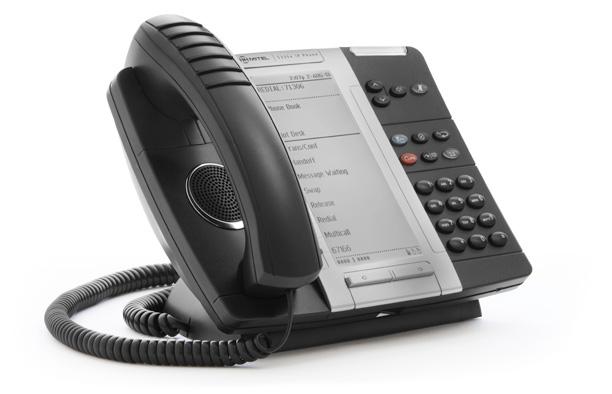 Mitel MiVOICE 5330e Wired handset Black IP phone