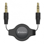 Verbatim 66573 audio cable 1 m 3.5mm Black