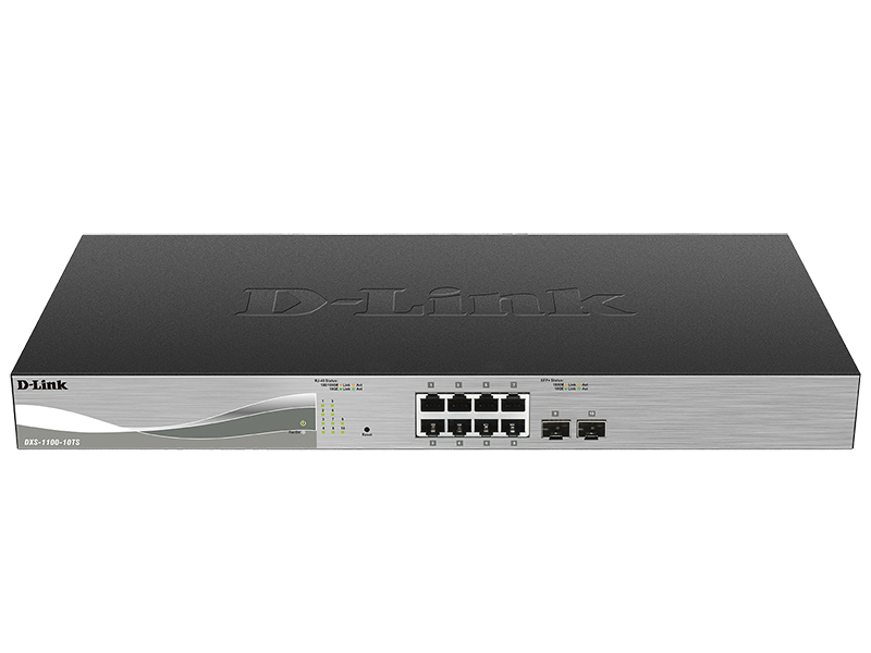 D-Link DXS-1100-10TS 10-Port 10 Gigabit Ethernet Smart Switch Gestionado L3 10G Ethernet (100/1000/10000) Negro 1U