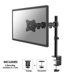 """Newstar Full Motion Desk Mount (clamp & grommet) for 10-30"""" Monitor Screen, Height Adjustable - Black"""